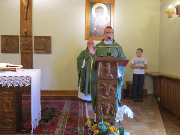 Msza św w domu rekolekcyjnym